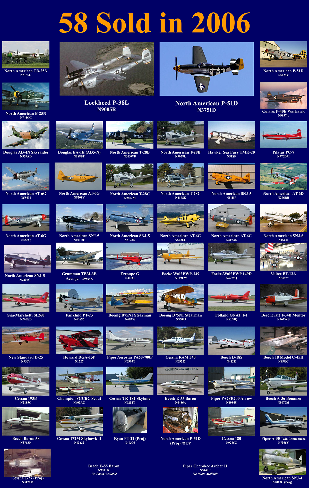 Sales Log | Courtesy Aircraft